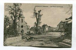 CPA  51 : AUBILLY   La Place Et église  A  VOIR  !!!!!!! - Altri Comuni