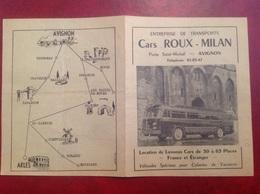 Avignon Horaires Car Cars  Roux Milan , Rognonas Eyragues Noves - Europe
