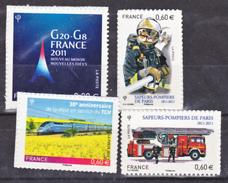 France  598 601 603 Autoadhésifs 2011 Neuf ** TB MNH Sin Charnela - France