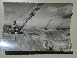 HAUT RHIN 25 E.D.F. CHANTIER D'OTTMARSHEIM DRAGLINES EN ACTION AU CANAL D'AMENEE FEVRIER 1950 - Ottmarsheim