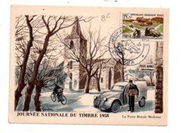 Journée Nationale Du Timbre 1958-Lyon- Voir état - FDC