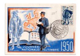 Journée Nationale Du Timbre 1950-Versailles- Voir état - FDC