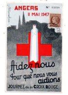 Journée De La Croix Rouge - Angrs - 1947- Voir état - FDC