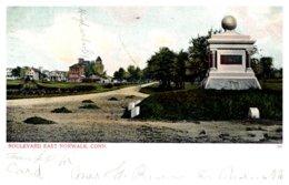 Connecticut  Norwalk , Boulevard East ,High School , Monument - Norwalk