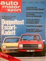 CA217 Zeitschrift Auto Motor Und Sport, Heft 12/1975, Opel Escort Und Kadett - Auto & Verkehr