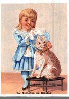CHROMO  TOILE & LINGE DE TABLE MAISON BRESSOL CHERBOURG  LA TOILETTE DE MEDOR - Trade Cards