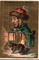 CHROMO  FABRIQUE DE DRAGEES E. CABRILLAC & A. MUNIER VERDUN-SUR-MEUSE  LE VEILLEUR DE NUIT - Trade Cards