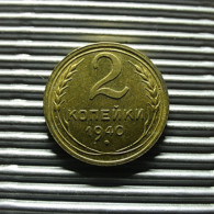 Russia 2 Kopeks 1940 - Rusland