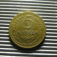 Russia 5 Kopeks 1940 - Rusland