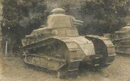 CPA Carte Photo Belgique Ingelmunster Tank Char Assault 1918 - Ingelmunster