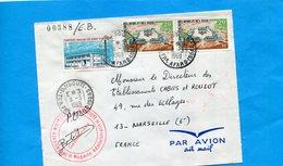 """MARCOPHILIE-Lettre Ter Afars Et Issas>France Cad 1969+cachet Militaire-""""intendance-3 Stamp-N°313+362 - Afars Et Issas (1967-1977)"""