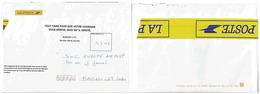 Enveloppe De Service _ Mentions De Renvoi D'un Courrier Endommagé - Fabrication Locale - Marcophilie (Lettres)