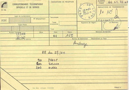 Cachet Manuel De Lezan _ Gard - Sur Télégramme - Postmark Collection (Covers)