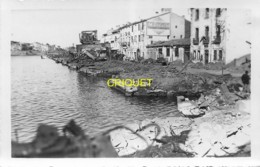 66 Port-Vendres, Guerre 39-45, Photo-carte Originale N° 1 De Ruines Sur Le Port, Phot. Sanchez, Beau Document - Port Vendres