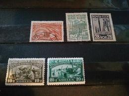 Urss - 1930 - 5 Timbres - Gebraucht