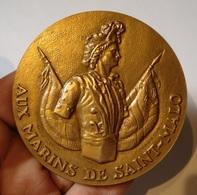 MEDAILLE AUX MARINS DE SAINT MALO 1973 Par BARON. NAVIGATION, PORT, BRETAGNE. MONNAIE DE PARIS. - Professionals / Firms