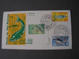Maroc , Poissons FDC 1967 - Marokko (1956-...)
