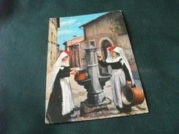 COSTUME COSTUMI D' ABRUZZO PETTORANO SUL GIZIO DONNE ALLA FONTANA PIEGA - Costumi