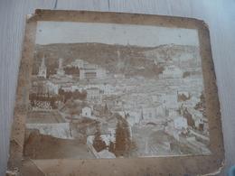Grande Photo 25.6 X 19.8 Cm Collée Sur Carton Largentière Ardèche 1890 - Lieux