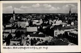 Cp Olsztyn Allenstein Ostpreußen, Panorama, Rathaus, Herz Jesu Kirche - Ostpreussen