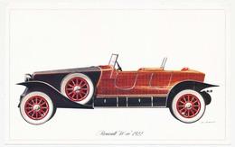 Carton 18.4 X 11.5 Voiture Automobile RENAULT 40cv 1922 Illustrateur P. Dumont Scan Recto Verso - Andere Illustrators