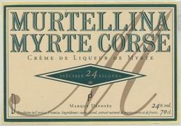 Étiquette De Crème De Liqueur Myrte Corse Murtellina - Other