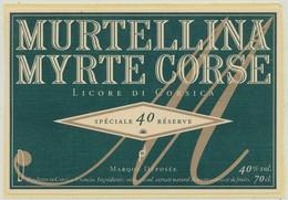 Étiquette De Crème De Liqueur Myrte Corse Murtellina - Etiquettes