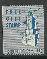 USA Poster Stamp Free Gift Stamp Bonus Value Twin Tower Revenue Tax * - Cinderellas