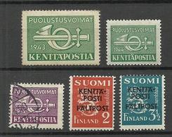 FINLAND FINNLAND 1941-43 Feldpost Field Post War Military Lot, Mint & Used - Finnland