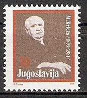 Jugoslawien Mi.Nr. ZZM 158 ** Miroslav Krleža (2015417) - 1945-1992 Sozialistische Föderative Republik Jugoslawien