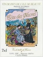 Étiquette De Vin Corse Cote Des Nacres - Labels