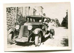 Deux Photographies Voitures Anciennes Années 1930 - Automobiles