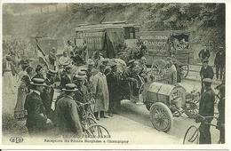 Le Raid Pekin - Paris, Reception Du Prince Borghese A Champigny, Riproduzione B54, Reproduction - Cartoline