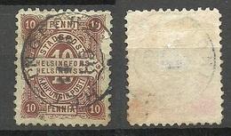 FINLAND HELSINKI 1884 Local City Post Stadtpost Helsinki O NB! - Finland