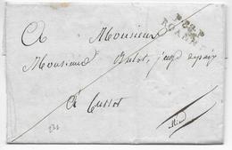 1813 - LOIRE - LETTRE PORT PAYE De ROANNE Avec MARQUE LINEAIRE => CUSSET - 1801-1848: Precursores XIX