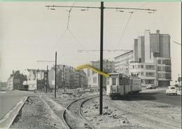 MARIAKERKE : A Droite Ancien Tracé - A Gauche Nouveau Tracé     TRAM : * 1960  * (12.5  X 9  Cm) Foto Van Oude Cliché - Trains