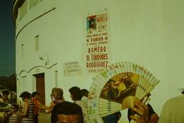 Corrida Plaza De Toros De Marbella 12/7/1970 (El Cordobes Curro Romero Manuel Rodriguez) Lot De 9 Dias + Ticket D'entrée - Diapositive