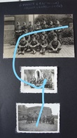 Photox3 ABL 6ème Régiment De Ligne Linieregiment BERCHEM Antwerpen 1936 Leger Armée Guerre Soldat Militaria - Guerre, Militaire