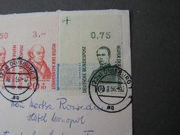 BRD Luftpost  , Eine Marke Eckrand 1958 - Cartas