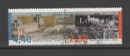 FRANCE / 1993 / Y&T N° 2851/2852 : Grand Louvre (2 Valeurs Se Tenant Sans La Vignette) - Choisi - Cachet Rond - France