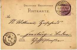 STEMPEL: Neustadt Im Schwarzwald ( Titisee-Neustadt ).via Freiburg Im Breisgau - Stamped Stationery 1889 - Germania