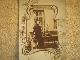 Carte Photo Dame Aux Chiens (genre Colette) - Photos