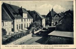 Cp La Petite Pierre Lützelstein Elsass Bas Rhin, Hotel Des Vosges, Inh. Wehrung Ludmann, Garage - Autres Communes