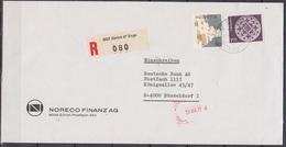 Schweiz 1973/74 Nr.1035/1010 MiF.  Gelaufen Zürich/Enge - Düsseldorf 20.7.77( 1) Günstige Versandkosten - Brieven En Documenten
