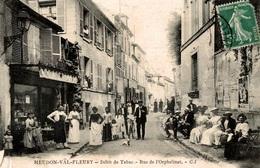 CPA Meudon-Val-Fleury Débit De Tabac Rue De L'Orphelinat - Animée - Meudon