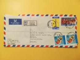 1978 BUSTA INTESTATA AIR MAIL SRI LANKA BOLLO JEWELLERY BOX RACCOMANDATA ANNULLO WELLAWATTA STORIA POSTALE - Sri Lanka (Ceylon) (1948-...)