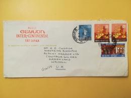 1978 BUSTA INTESTATA HOTEL CEYLON SRI LANKA BOLLO BRASS LAMPS ANNULLO COLOMBO STORIA POSTALE - Sri Lanka (Ceylon) (1948-...)