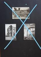 Photox4 LEUVEN Louvain Destruction 1940 44 WO2 Bomber Bombardement Militaria Guerre Oorlog - Orte