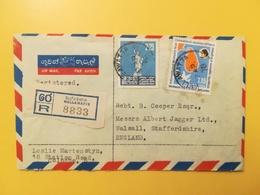 1978 BUSTA INTESTATA AIR MAIL SRI LANKA BOLLO AMERICAN WOMEN YEAR ANNULLO WELLAWATTA RACCOMANDATA STORIA POSTALE - Sri Lanka (Ceylon) (1948-...)