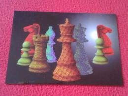 POSTAL POST CARD AJEDREZ CHESS Échecs SCHACH XADREZ PARTIDA GAME KARPOV MOROVIC 1994 FIGURAS PIEZAS PIECES CARTE POSTALE - Postales